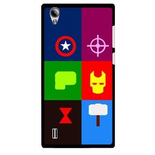 Snooky Printed Multi Heros Mobile Back Cover For Vivo Y15 - Multi