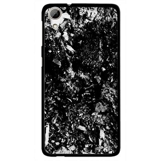 Snooky Printed Rocky Mobile Back Cover For HTC Desire 626 - Black