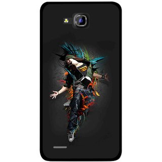 Snooky Printed Music Mania Mobile Back Cover For Huawei Honor 3C - Multicolour