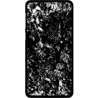Snooky Printed Rocky Mobile Back Cover For HTC Desire 728 - Black