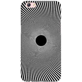 best loved fde51 2d69f TLG - Black Hole Illusion 3Designed, Hard Case, 3D Matte finish Back Cover  for Oppo F3 Plus