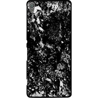 Snooky Printed Rocky Mobile Back Cover For Sony Xperia XA1 - Black