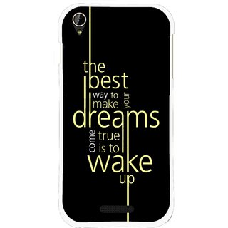 Snooky Printed Wake up for Dream Mobile Back Cover For Lava X1 Mini - Black
