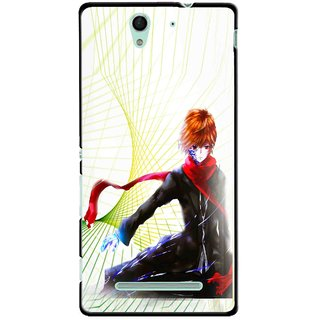 Snooky Printed Stylo Boy Mobile Back Cover For Sony Xperia C3 - Multicolour
