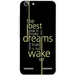 Snooky Printed Wake up for Dream Mobile Back Cover For Lenovo Vibe K5 Plus - Black