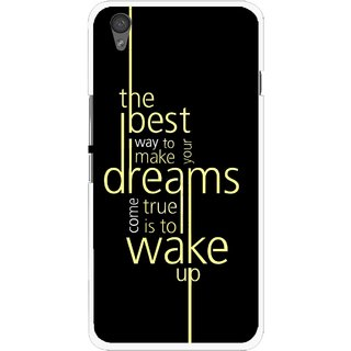 Snooky Printed Wake up for Dream Mobile Back Cover For One Plus X - Black