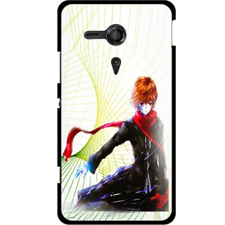Snooky Printed Stylo Boy Mobile Back Cover For Sony Xperia SP - Multicolour