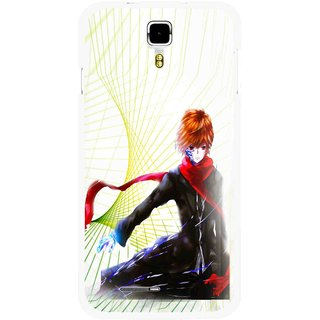 Snooky Printed Stylo Boy Mobile Back Cover For Micromax Canvas Juice A177 - Multicolour