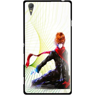 Snooky Printed Stylo Boy Mobile Back Cover For Sony Xperia T3 - Multicolour
