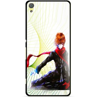 Snooky Printed Stylo Boy Mobile Back Cover For Sony Xperia XA - Multicolour
