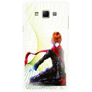 Snooky Printed Stylo Boy Mobile Back Cover For Samsung Galaxy E7 - Multicolour