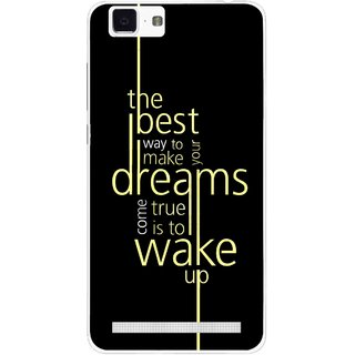 Snooky Printed Wake up for Dream Mobile Back Cover For Vivo X5 Max - Black