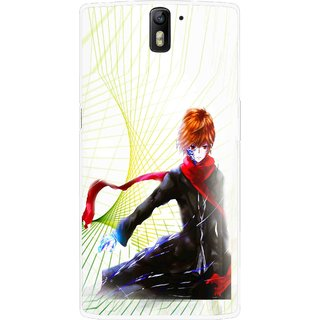 Snooky Printed Stylo Boy Mobile Back Cover For OnePlus One - Multicolour