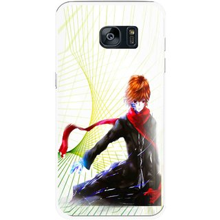 Snooky Printed Stylo Boy Mobile Back Cover For Samsung Galaxy S7 Edge - Multicolour