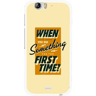 Snooky Printed First Time you Did Mobile Back Cover For Micromax Canvas Turbo A250 - Yellow