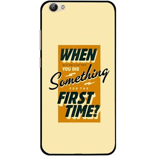 Snooky Printed First Time you Did Mobile Back Cover For Vivo Y55 - Yellow