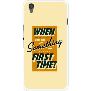 Snooky Printed First Time you Did Mobile Back Cover For One Plus X - Yellow