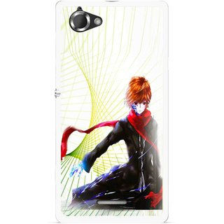 Snooky Printed Stylo Boy Mobile Back Cover For Sony Xperia L - Multicolour