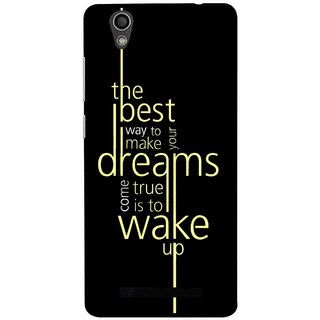 Snooky Printed Wake up for Dream Mobile Back Cover For Gionee F103 - Black