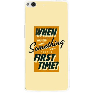 Snooky Printed First Time you Did Mobile Back Cover For Gionee Elife E6 - Yellow