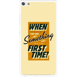 Snooky Printed First Time you Did Mobile Back Cover For Gionee Elife S7 - Yellow