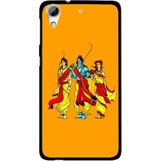 Snooky Printed God Rama Mobile Back Cover For HTC Desire 626 - Orrange