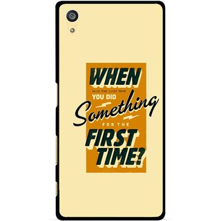 Snooky Printed First Time you Did Mobile Back Cover For Sony Xperia Z5 Plus - Yellow
