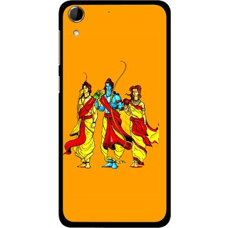 Snooky Printed God Rama Mobile Back Cover For HTC Desire 728 - Orrange