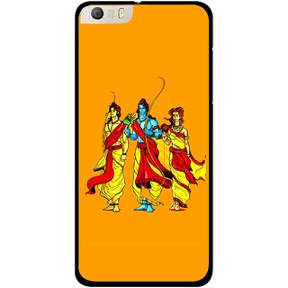 Snooky Printed God Rama Mobile Back Cover For Micromax Canvas Knight 2 E471 - Orrange