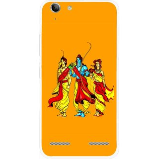 Snooky Printed God Rama Mobile Back Cover For Lenovo Vibe K5 Plus - Orrange