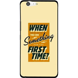 Snooky Printed First Time you Did Mobile Back Cover For Gionee Marathon M5 - Yellow
