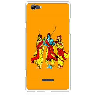 Snooky Printed God Rama Mobile Back Cover For Micromax Canvas Selfie 3 Q348 - Orrange