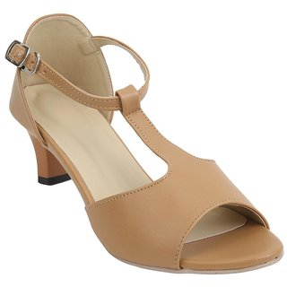 Glitzy Galz Beige Heel for women
