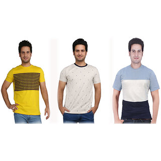 Rags Style Men T-Shirt Combo of 3