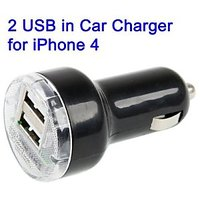2 Double Dual USB Car Charger Mini Adapter 2.1a IPhone 4/3GS/3G IPad/Mobiles