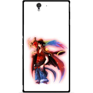 Snooky Printed Free Mind Mobile Back Cover For Sony Xperia Z - Multicolour