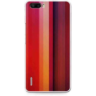 Snooky Printed Colorfull Stripes Mobile Back Cover For Huawei Honor 6 Plus - Multi