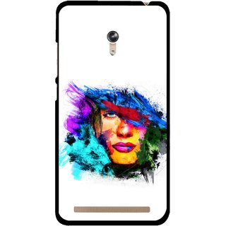 Snooky Printed Dashing Girl Mobile Back Cover For Asus Zenfone 6 - Multicolour