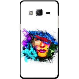 Snooky Printed Dashing Girl Mobile Back Cover For Samsung Tizen Z3 - Multicolour
