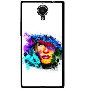 Snooky Printed Dashing Girl Mobile Back Cover For Gionee Elife E7 - Multicolour