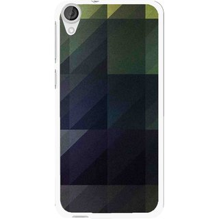 Snooky Printed Geomatric Shades Mobile Back Cover For HTC Desire 820 - Multi