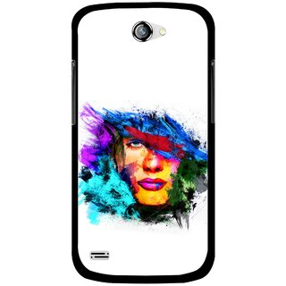 Snooky Printed Dashing Girl Mobile Back Cover For Gionee Pioneer P3 - Multicolour