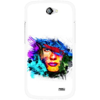 Snooky Printed Dashing Girl Mobile Back Cover For Gionee Pioneer P2 - Multicolour