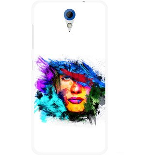 Snooky Printed Dashing Girl Mobile Back Cover For HTC Desire 620 - Multicolour