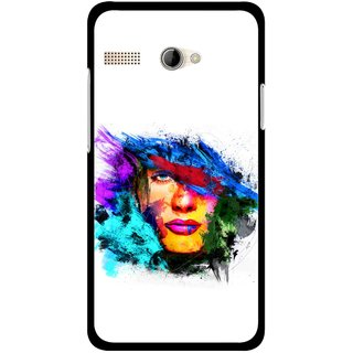 Snooky Printed Dashing Girl Mobile Back Cover For Intex Aqua 3G Pro - Multicolour