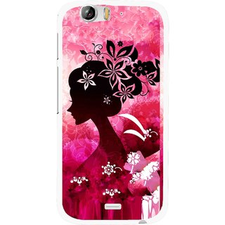 Snooky Printed Pink Lady Mobile Back Cover For Micromax Canvas Turbo A250 - Pink