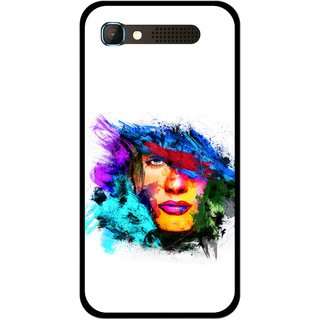 Snooky Printed Dashing Girl Mobile Back Cover For Intex Aqua Y2 Pro - Multicolour