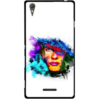 Snooky Printed Dashing Girl Mobile Back Cover For Sony Xperia T3 - Multicolour