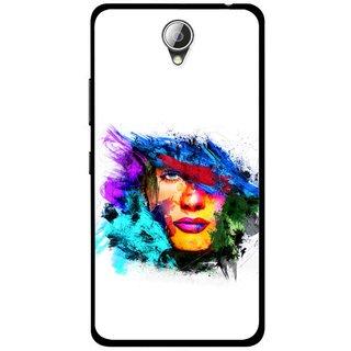 Snooky Printed Dashing Girl Mobile Back Cover For Lenovo A5000 - Multicolour