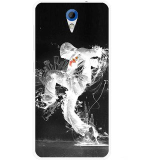 Snooky Printed Dance Mania Mobile Back Cover For HTC Desire 620 - Multicolour